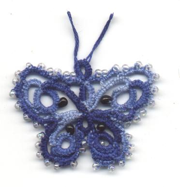 Carolyn Groves sample of Deaconess butterfly from 1916 order of work, regular thread